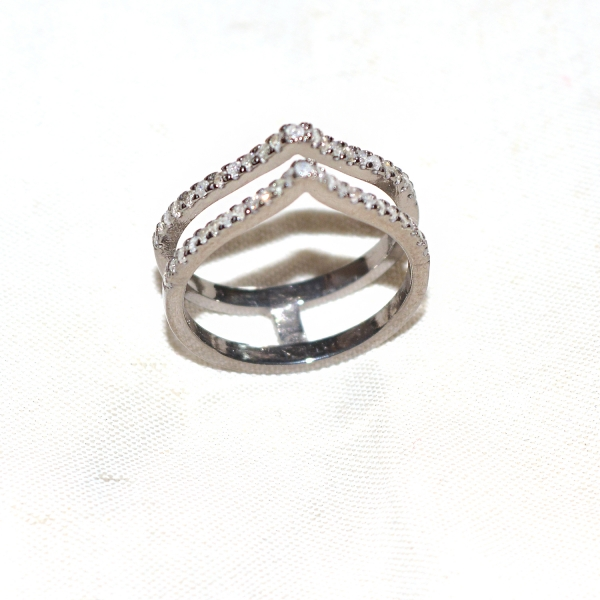 925 Sterling silver Pave Diamond Band Ring Jewelry, Pave Diamond Ring